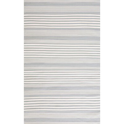 Hand-Woven Blue/White Indoor/Outdoor Area Rug Rug Size: 4' x 6'