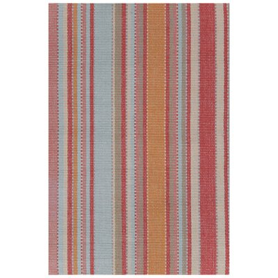Hand Woven Red/Blue Area Rug Rug Size: Runner 26 x 8