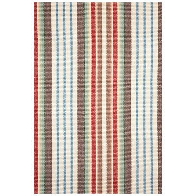 Hand Woven Cotton Area Rug Rug Size: Runner 26 x 12