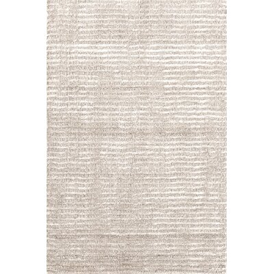 Cut Stripe Knotted Beige Area Rug Rug Size: Rectangle 5 x 8
