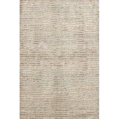 Cut Stripe Ocean Hand-Knotted Beige Area Rug Rug Size: Rectangle 2 x 3