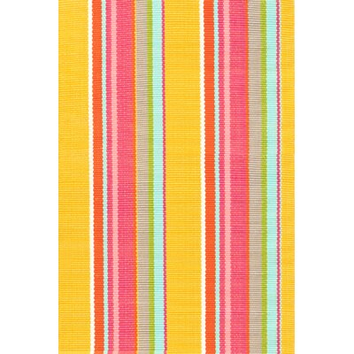 Hand Woven Yellow/Pink Indoor/Outdoor Area Rug Rug Size: Rectangle 4 x 6