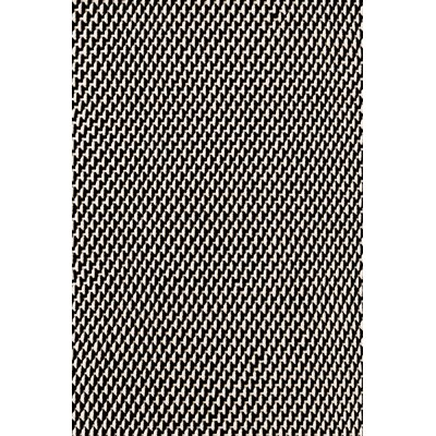 Two Tone Rope Hand Woven Black Indoor/Outdoor Area Rug Rug Size: 6 x 9