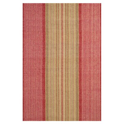 Hand Woven Cotton Red Area Rug Rug Size: Runner 25 x 12