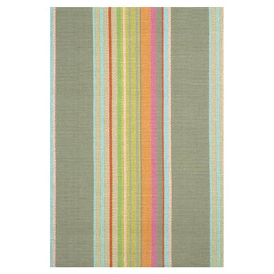 Hand Woven Cotton Green Area Rug Rug Size: 4 x 6