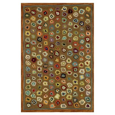 Hooked Brown Area Rug Rug Size: 4 x 6