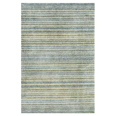 Tufted Blue Area Rug Rug Size: 2 x 3