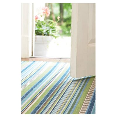 Hand Woven Cotton Blue Area Rug Rug Size: Runner 25 x 12