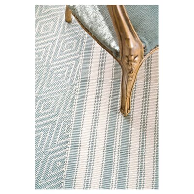 Hand Woven Blue/Ivory Indoor/Outdoor Area Rug
