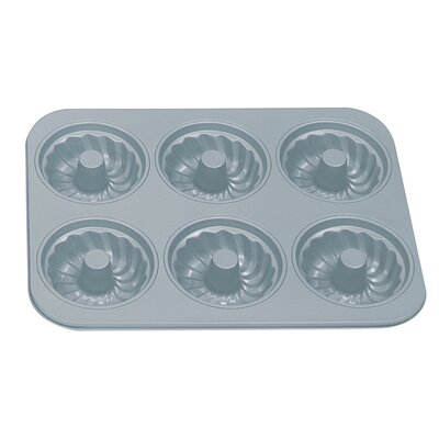 Non-stick 6-cup Fluted Muffin Pan With Center Tube