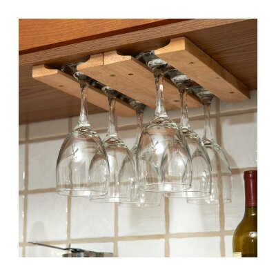 Wood Hanging Wine Glass Rack