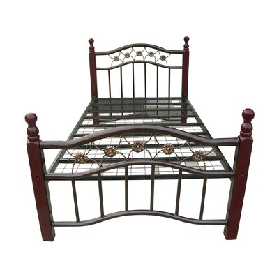 Furniture financing Metal Bed Size: Queen, Finish: Bron...