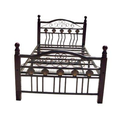 Cheap Twin Metal Bed in Deep Cherry (HMC1521)