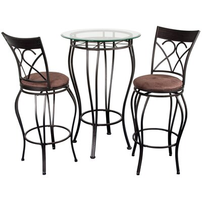No credit financing Fancy Three Piece Bistro Table Set ...