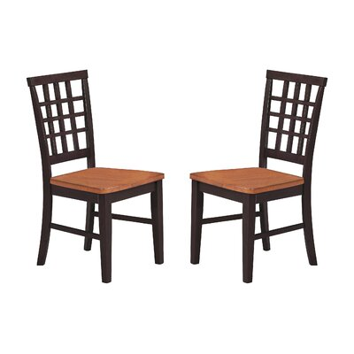 Arlington Lattice Back Solid Wood Dining Chair (Set of 2)