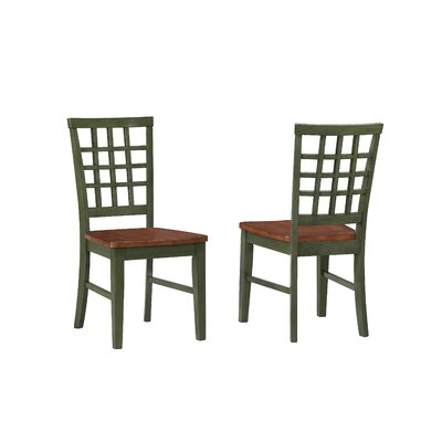 Arlington Side Chair (Set of 2) Finish: Green