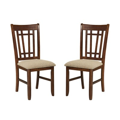 Mission Casual Lattice Back Side Chair (Set of 2)