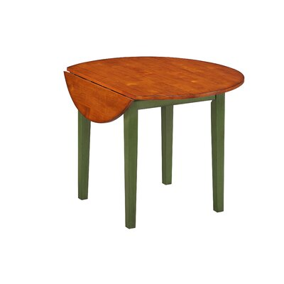 Arlington 42 Drop Leaf Table Table Finish: Green
