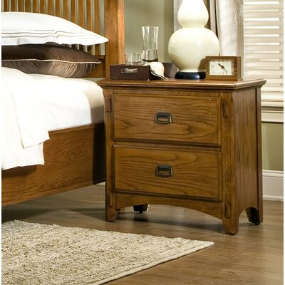 Pasilla 2 Drawer Nightstand