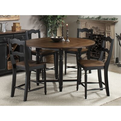 Counter Height Gathering Table Sets : ... Piece Counter Height Gathering Table Set in Black and Walnut (ICN1069