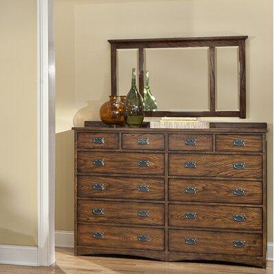 Oakhurst 12 Drawer Double Dresser with Mirror