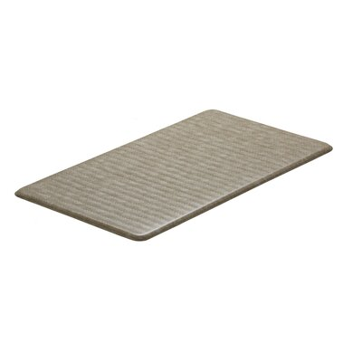 Chevron Cumulus9 Standard Kitchen Mat Rug Size: 20 x 36, Color: Goose
