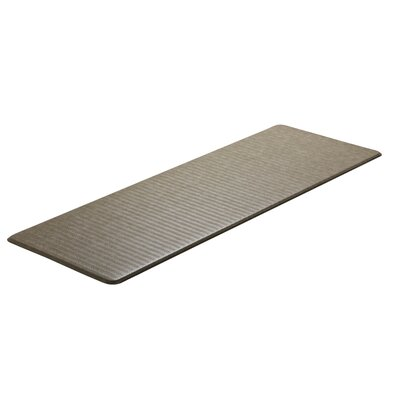 Chevron Cumulus9 Standard Kitchen Mat Color: Goose, Rug Size: 26 x 72