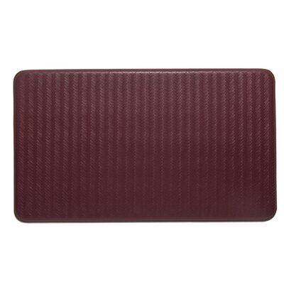 Solid Kitchen Mat Color: Ruby Wine
