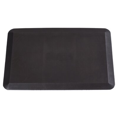 Solid Kitchen Mat Color: Black