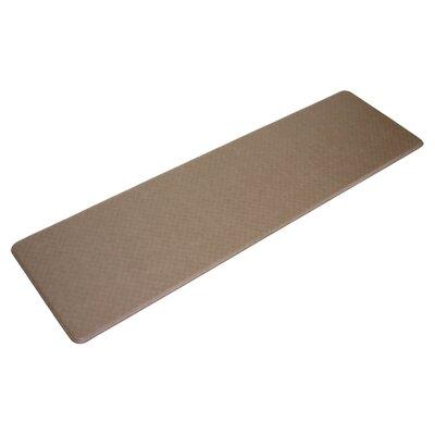Cedar Drive Solid Mocha Kitchen Mat Size: 26 x 72
