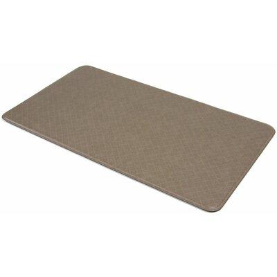 Cedar Drive Solid Mocha Kitchen Mat Size: 20 x 36