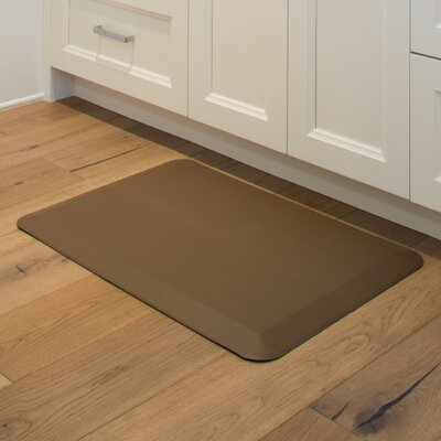 Solid Kitchen Mat Color: Brown
