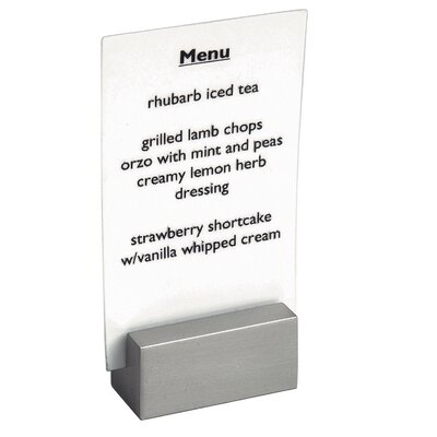 Stainless Steel Brushed Menu Holder or Sign Holder (Set of 6)