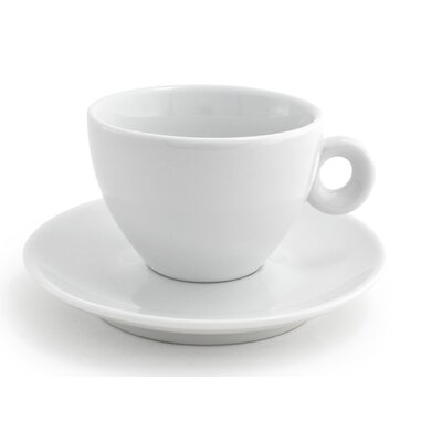 Front Of The House 6 oz. Milano Cup & Saucer (Set of 6) DCS002WHP22