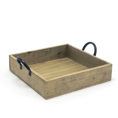 Square Rustic Wood Accent (Set of 2)
