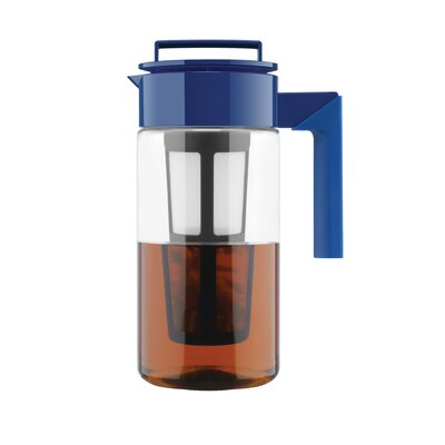 40 Oz Iced Tea Maker (Airtight Pitcher with Removable Tea Infuser) Finish: Blueberry