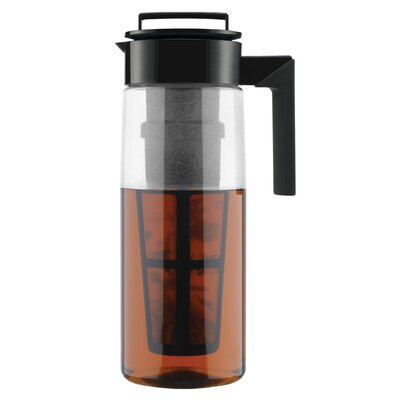 TAKEYA 64 Oz Iced Tea Maker (Airtight Pitcher with Removable Tea Infuser) - Finish: Black