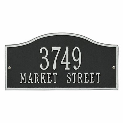 Rolling Hills Address Plaque Finish: Black and Silver