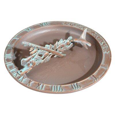 Hummingbird Sundial Birdbath Finish: Copper Verdi