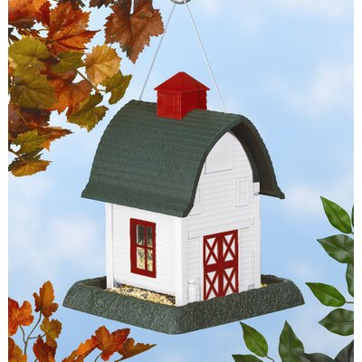 Small White Barn Bird Feeder