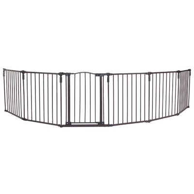 North States 3-in-1 Arched D�cor Metal Superyard 6-Panel Pet Gate