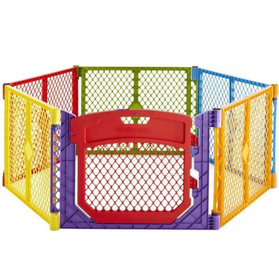 North States Superyard Colorplay Ultimate Freestanding 6 Panel Yard Kennel