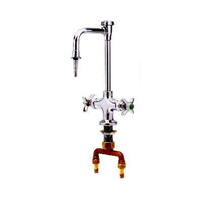 Double Ledge Faucet with Vacuum Breaker Gooseneck Spout