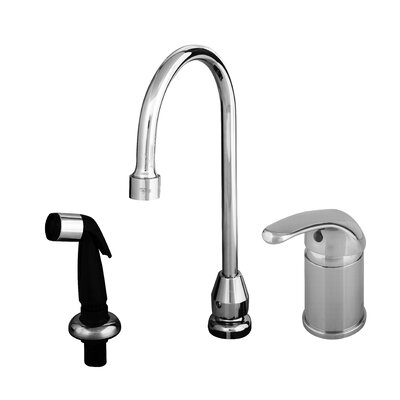 Widespread Bathroom Faucet with Single Lever Handle