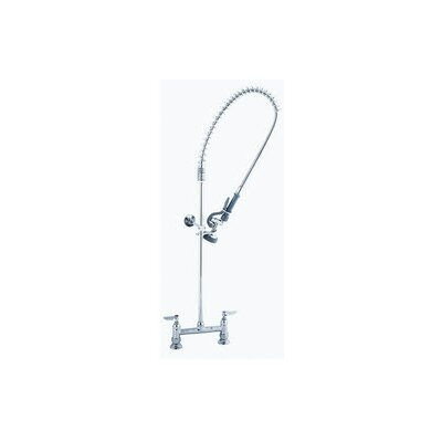 Deck Mount Centerset Pre-Rinse Bar Faucet with Wall Bracket