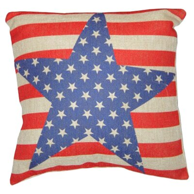 Stars and Stripes Linen Throw Pillow