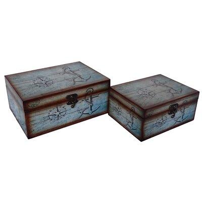 2 Piece Nautical Treasure Box Set