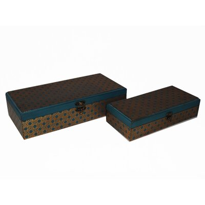 Cheungs 2 Piece Rectangle Clover Treasure Box Set - Size: Large at Sears.com