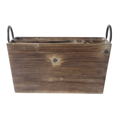 Cheungs Wooden 2 Slot Rectangle Caddy with Metal Side Handles at Sears.com