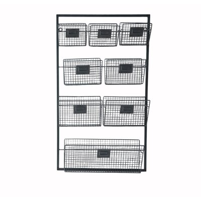 Metal Wall Organizer with 8 Slots